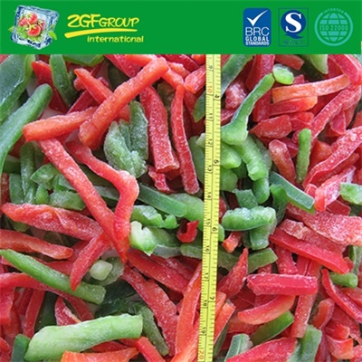IQF mixed pepper strips (green & red)