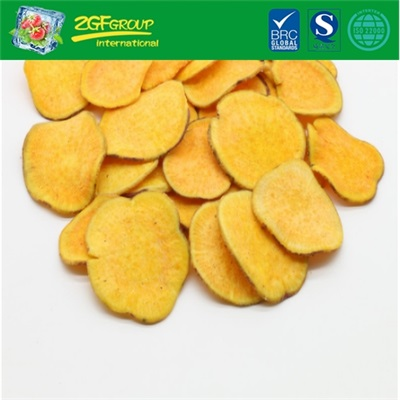 Delicious Vacuum Dried  Sweet Potato Chips (yellow color & with skin)