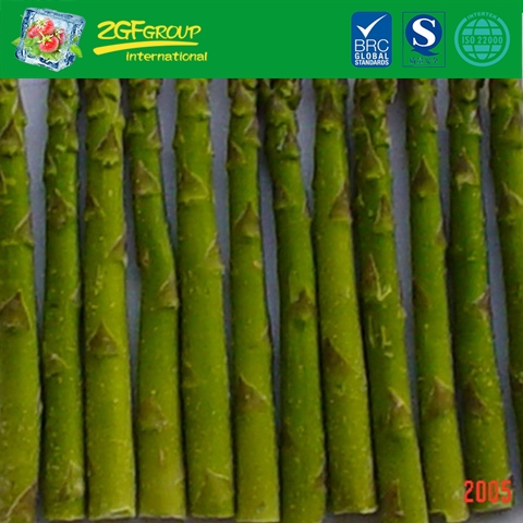 IQF l17cm dia10-16mm whole green asparagus spears