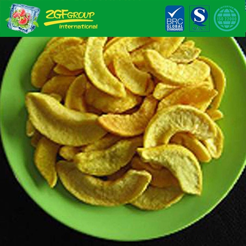 Vacuum dried  yellow peach slices