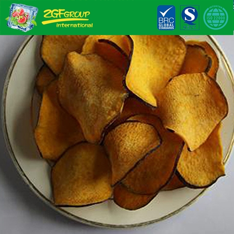 Vacuum dried  sweet potato chips (yellow color & with skin)