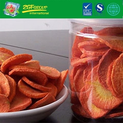 Vacuum dried  carrot chips
