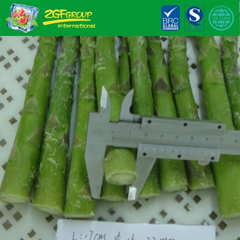frozen vegetable IQF L17cm DIA16-22MM whole green asparagus spears